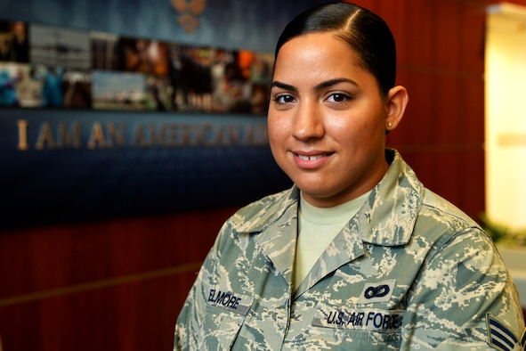 Senior Airman Krystal Elmore, an Air Force District of Washington Capital Airman, directly impacts the National Capital Region mission with the Ceremonies and Protocol directorate every day. What makes her role as a protocol specialist even more unique is she is an Air Force Reservist. (U.S. Air Force photo/Staff Sgt. Matt Davis)