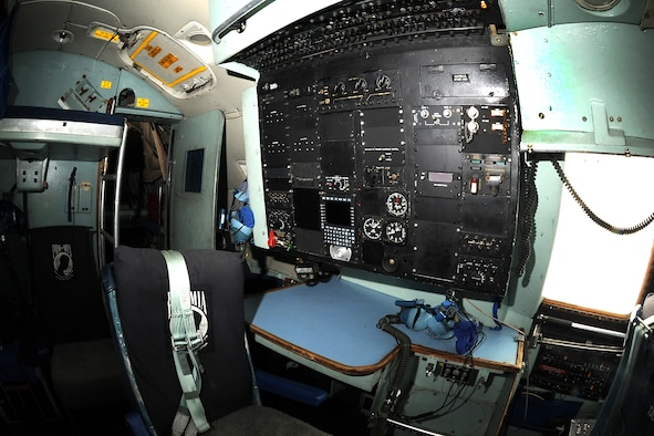 Lockheed C-141C navigator station at the National Museum of the United States Air Force. (U.S. Air Force photo by Ken LaRock)