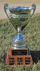 Fort Riley vs. McConnell AFB Annual Flag Football Game trophy.