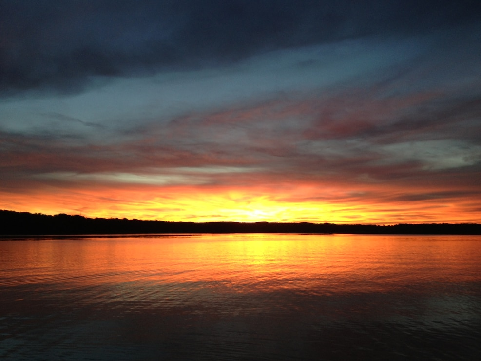 Sunset at Shenango Lake