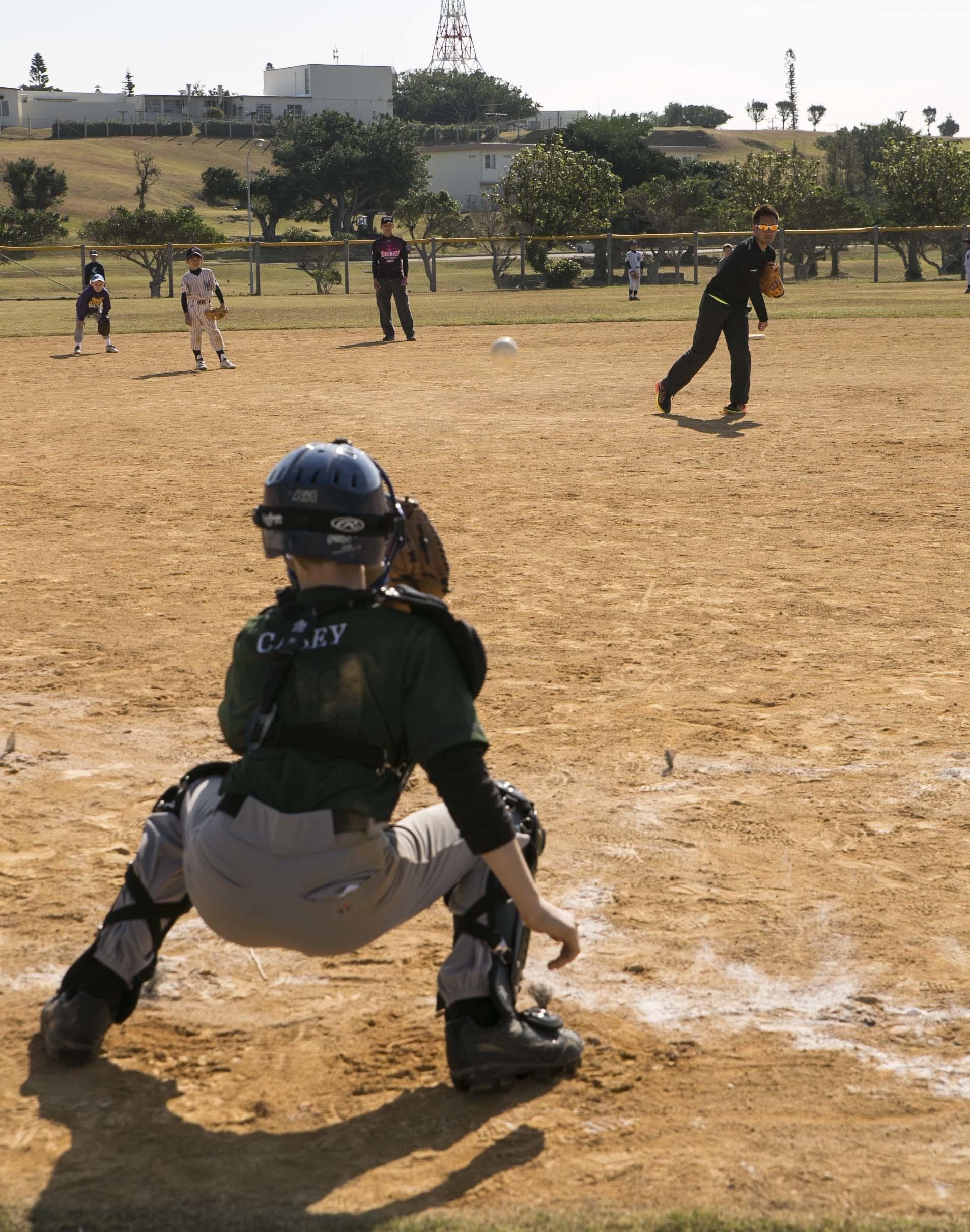 japanese american children participate in baseball clinic u003e iii