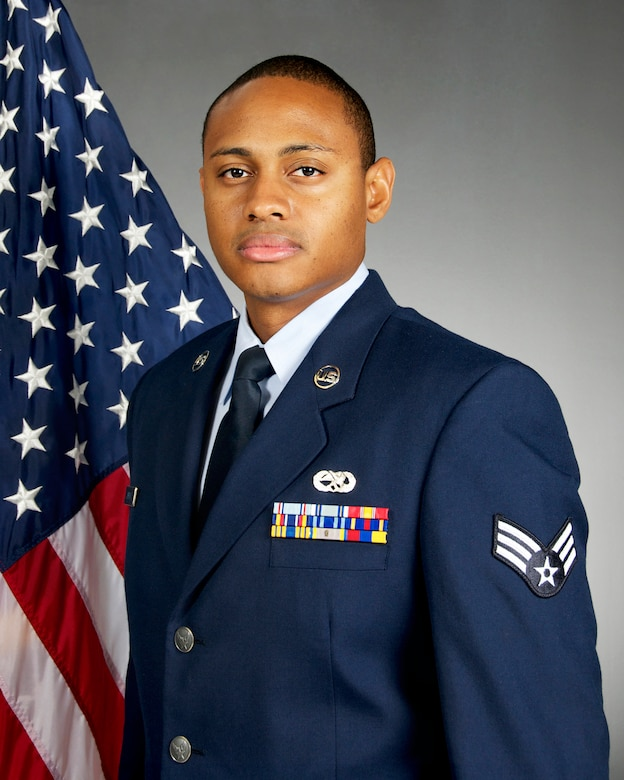 Senior Airman Tyshawn G. Jenkins was chosen as the Airman of the Year by the 108th Wing. The 108th, which is assigned to the New Jersey Air National Guard, is located at Joint Base McGuire-Dix-Lakehurst, N.J. (U.S. Air National Guard photo by Airman 1st Class Julia Pyun/Released)