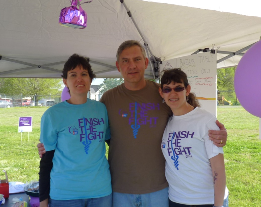 Pictured left to right at the 2014 Relay For Life are AEDC employees Dee and Shawn Wolfe, and their daughter Amber. (Photo provided)