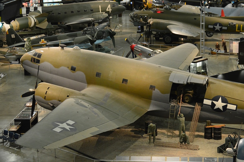 DAYTON, Ohio -- Curtiss C-46D Commando in the World War II Gallery at the National Museum of the United States Air Force. (U.S. Air Force photo)