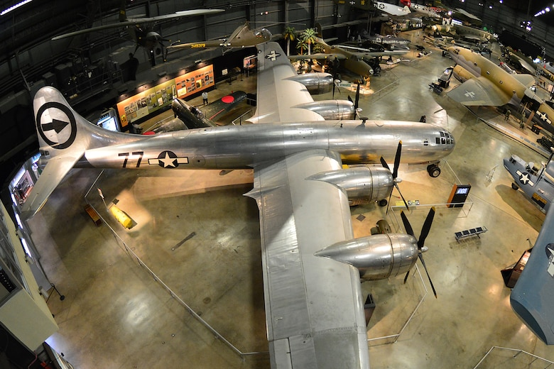 "DAYTON, Ohio -- Boeing B-29 Superfortress ""Bockscar"" in the World War II Gallery at the National Museum of the United States Air Force. (U.S. Air Force photo)"