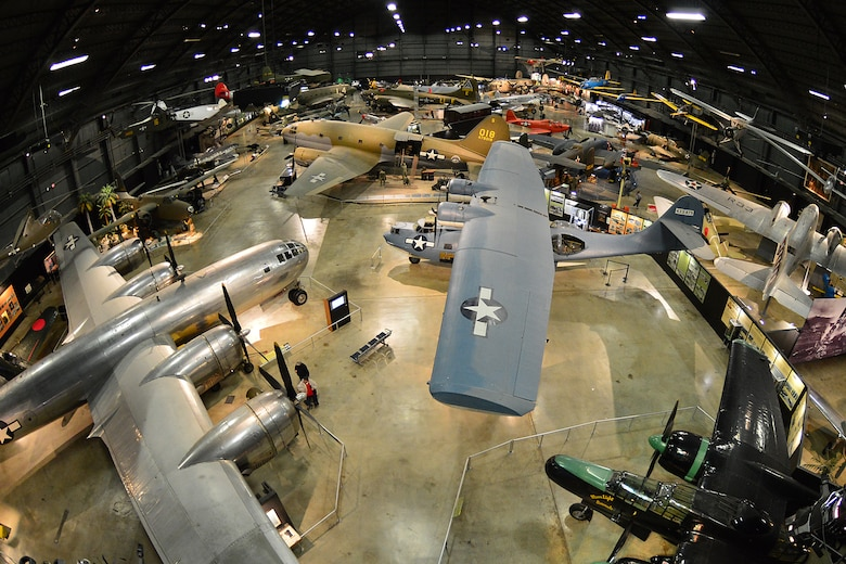 DAYTON, Ohio -- An overhead view of the World War II Gallery at the National Museum of the United States Air Force. (U.S. Air Force photo)