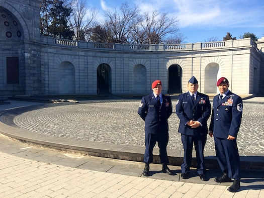 Three of the four Air Force Special Operations Airmen honored in this year's