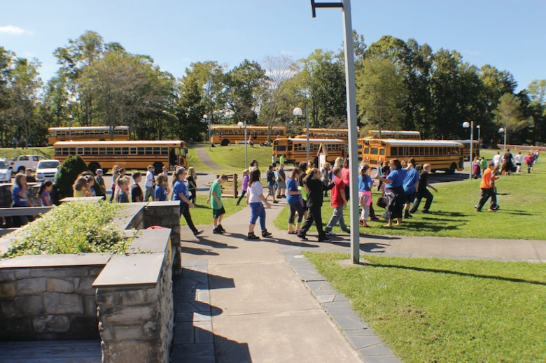 Students from eight schools gathered at R.D. Bailey Lake for a water festival.