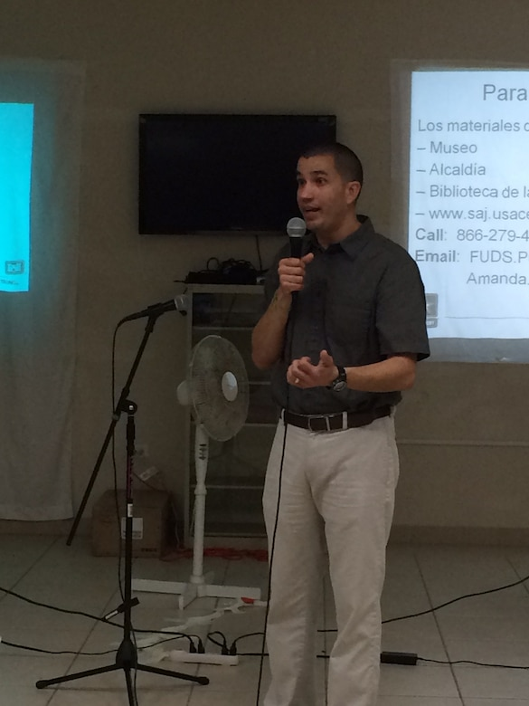 Residents of Culebra, Puerto Rico were introduced to Jacksonville District's newest project manager, Wilberto Cubero, at a recently held meeting updating the community about ongoing work on the island.