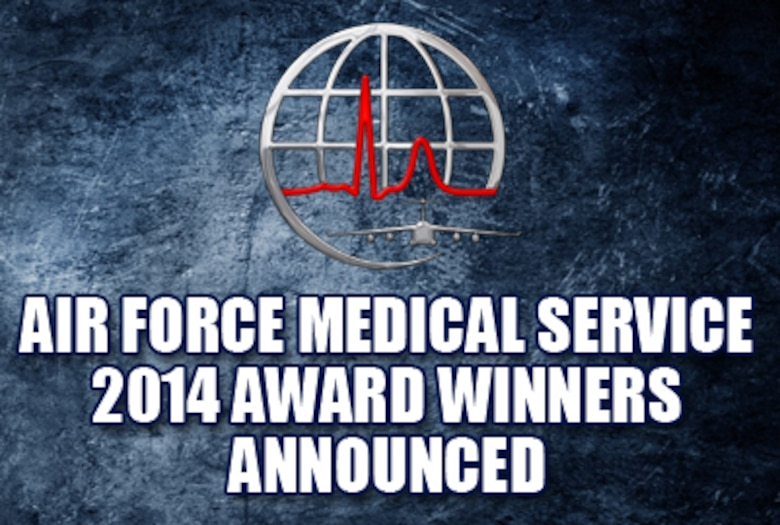 Air Force Medical Service 2014 award winners announced on Feb. 6, 2015. (U.S. Air Force graphic)
