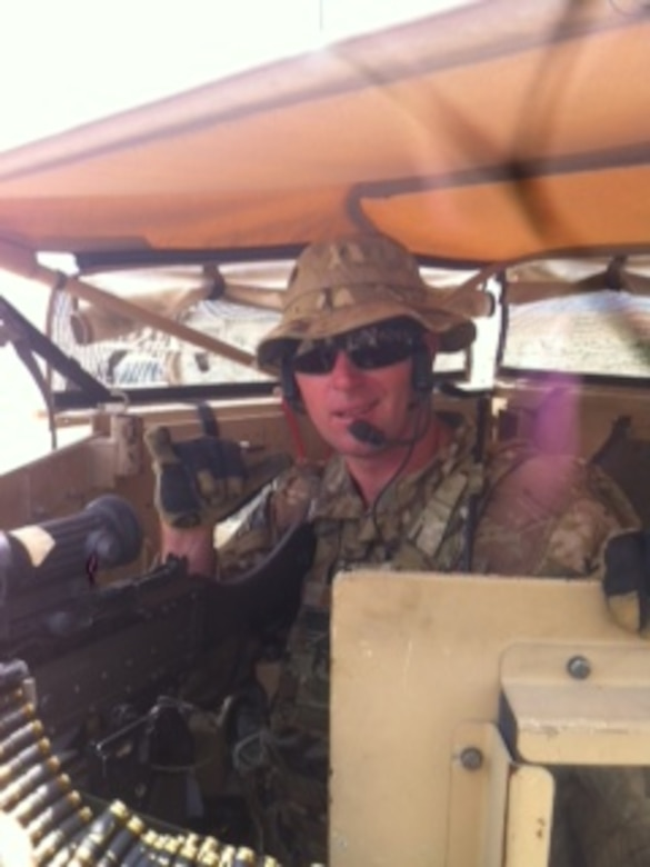 Tech. Sgt. Christopher Donohue on a mission in Afghanistan. (Courtesy photo)