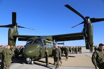The V-22 Osprey is designed specifically for Marine Helicopter Squadron One (HMX-1)