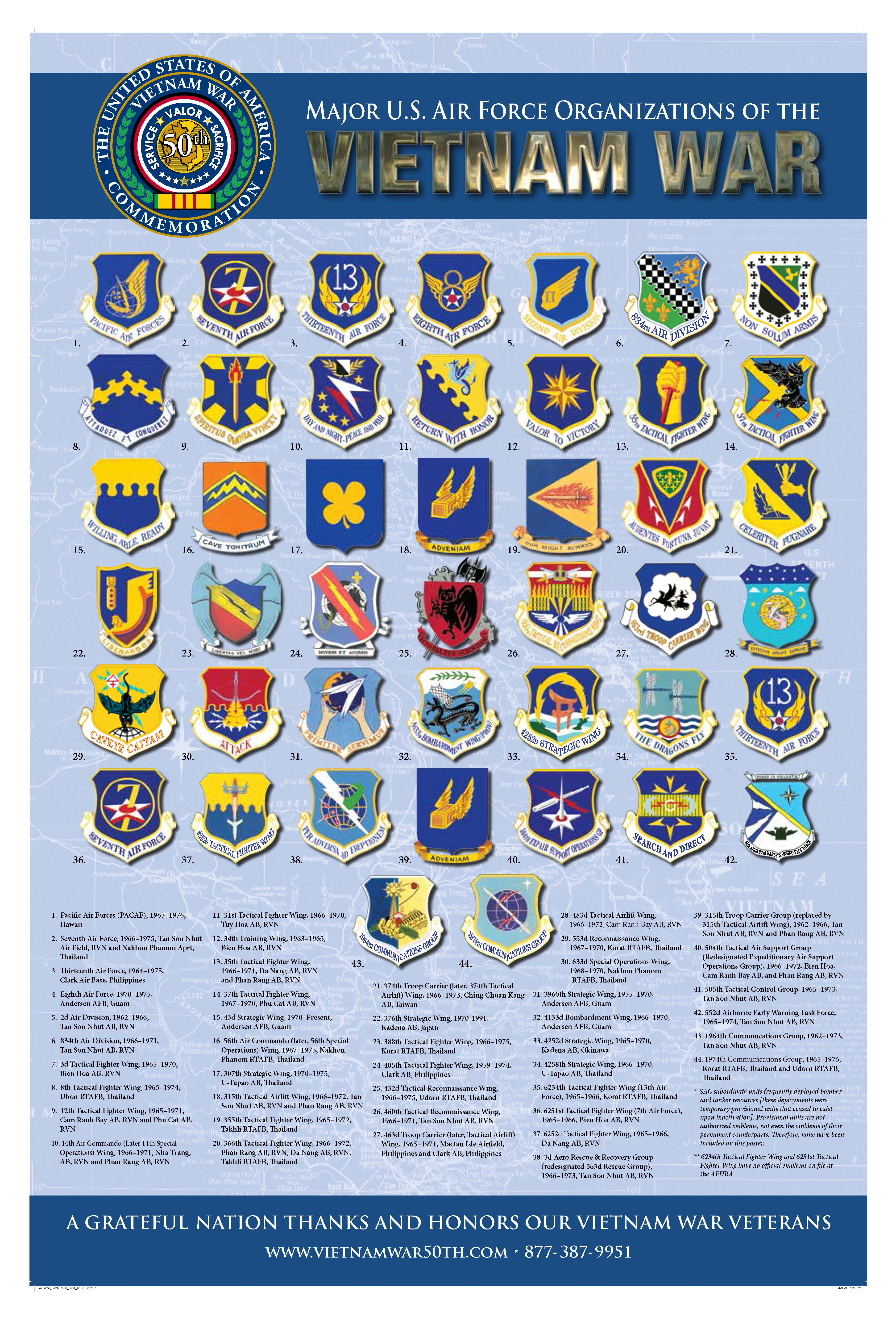 USAF Units Serving in South Vietnam 1965-1973 > Air Force