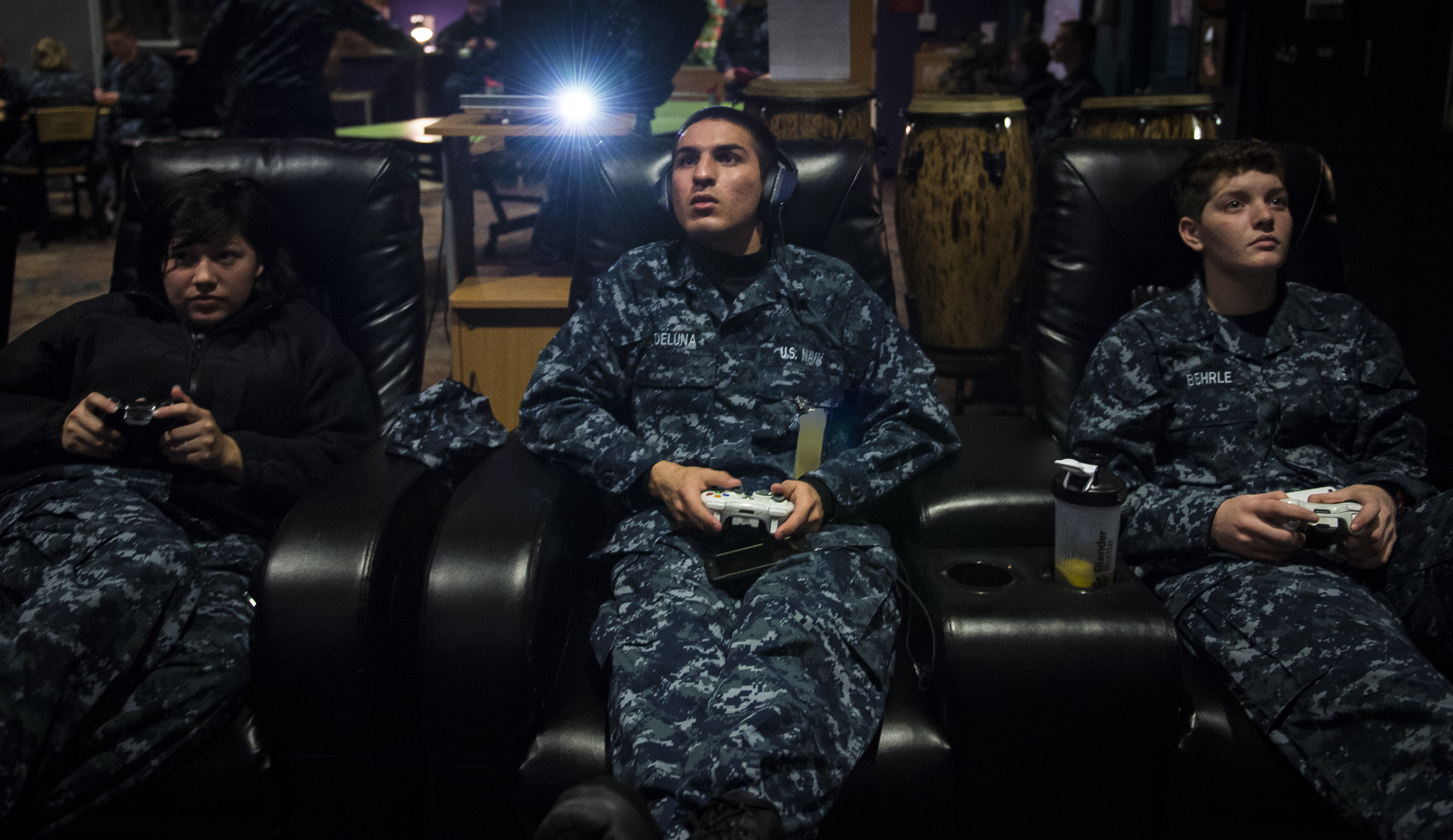 Photos Electricity Basic Navy Training Courses Naval Nuclear Power Command Student Play Video Games In The Bowman Center After A Long