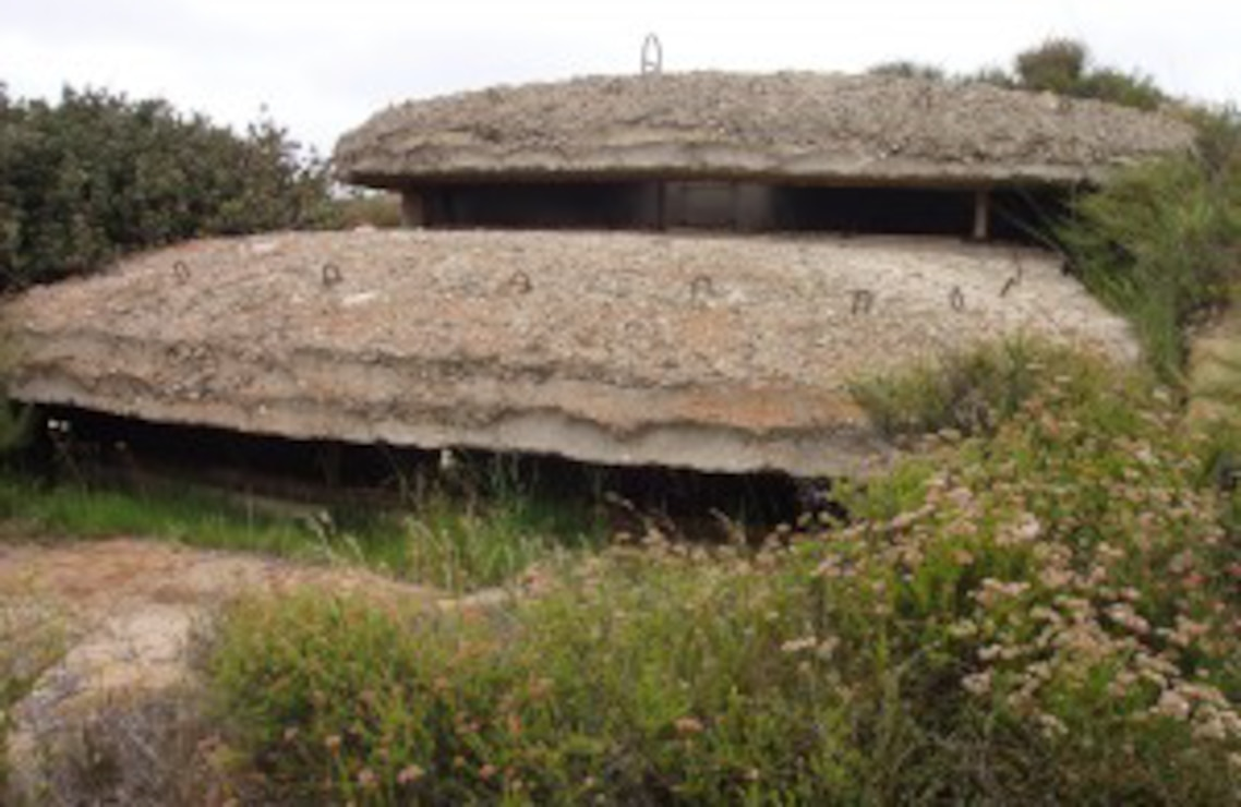 World War II Bunkers at Border Field State Park. Source: Tijuana River National Estuarine Reserve.