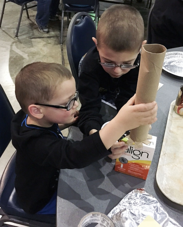 DAYTON, Ohio -- Children and adults of all ages enjoyed creating their own space stations during Family Day at the National Museum of the U.S. Air Force. (U.S. Air Force photo)