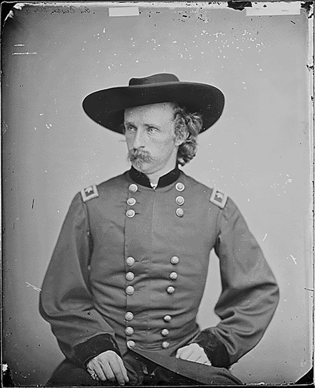Gen. George A. Custer is a rather controversial figure, mostly remembered for his defeat and death at the Battle of Little Bighorn, but he was a successful leader for the Union Army during the Civil War. (Photo courtesy National Archives)