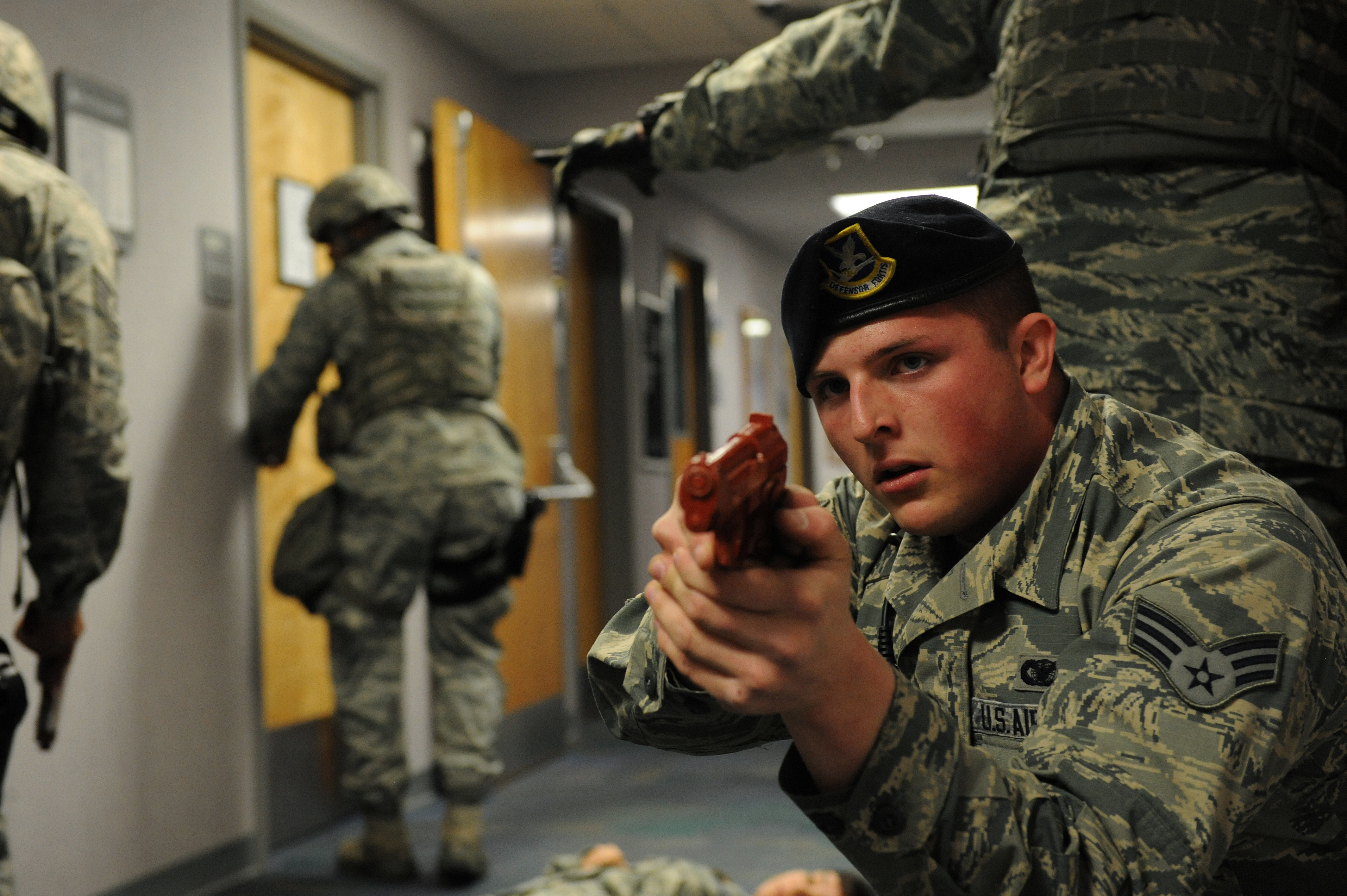 team whiteman participates in active shooter exercise > air force team whiteman participates in active shooter exercise