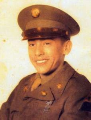 Sgt. Gilberto L. Sanchez poses for a picture during his time in service. Sanchez was assigned to Medical Company, 32nd Infantry Regiment, 31st Regimental Combat Team, and was deployed to North Korea during the Korean War. He was reported as missing in action Dec. 2, 1950.