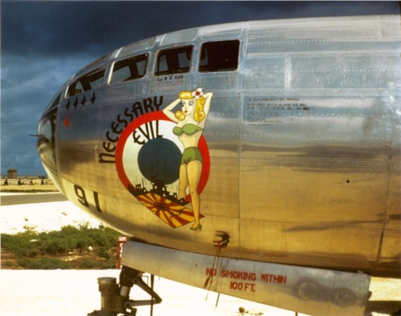 Pictured is Necessary Evil, the B-29 Superfortress used during the bombing on Hiroshima, Japan on Aug. 6, 1945. (Courtesy Photo)