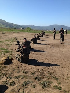 Btry Q, rifle live fire training. Feb 5, 2015