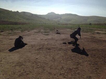 Btry Q, rifle live fire training. Feb 5, 2015