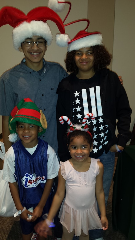 Ernesto Flores, Buckley's Military Youth of the Year, stands with his siblings during the holiday season. (courtesy photo)