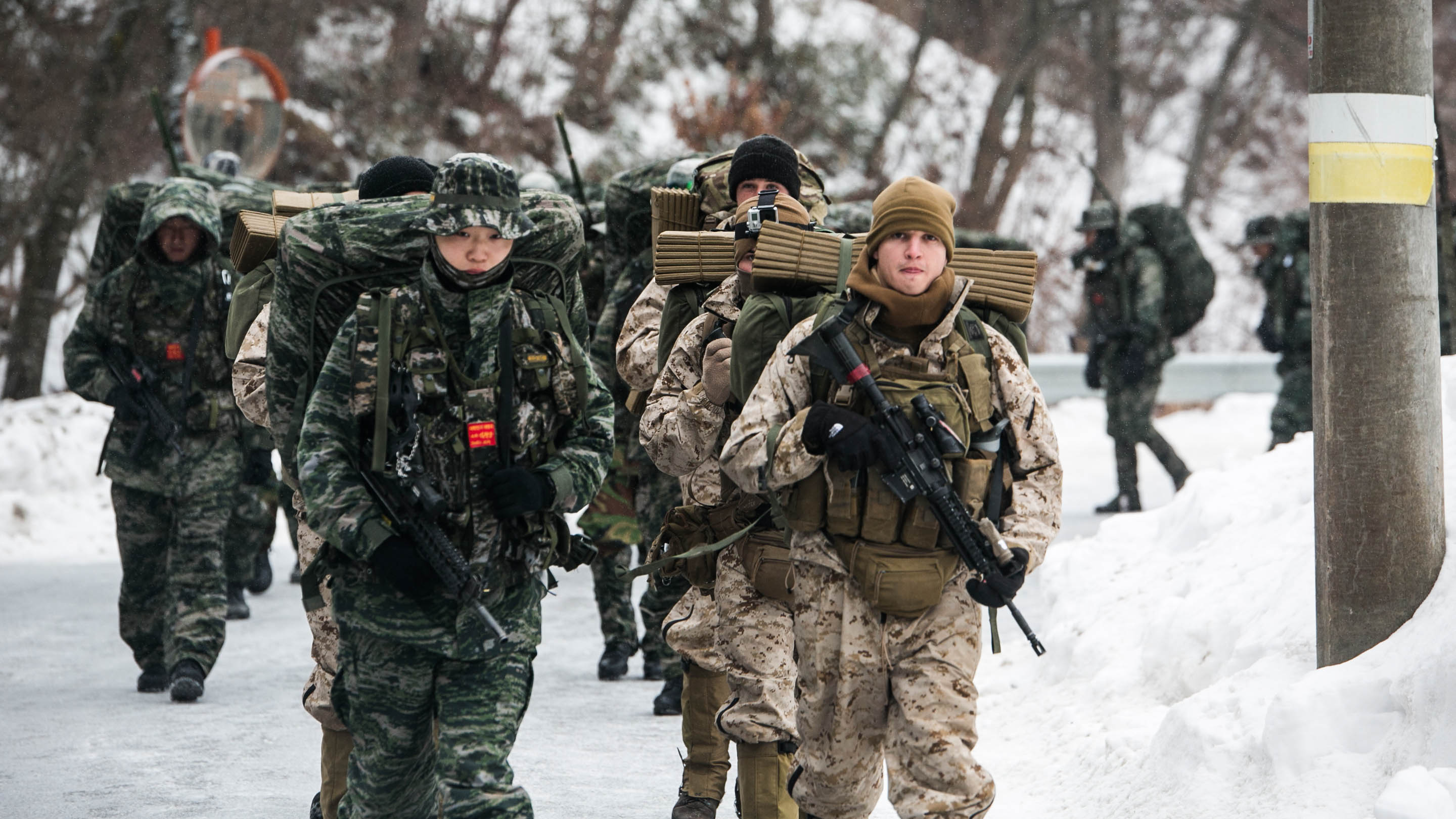 U.S., ROK Marines ruck over mountains > The Official ...