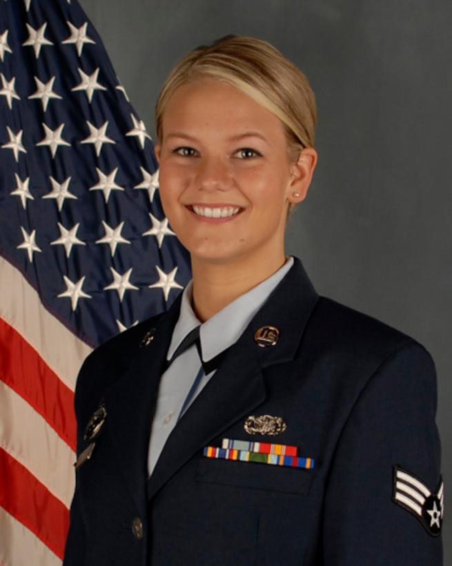 Senior Airman Jorrie Hart, 114th Security Forces Squadron installation controller, native of Canton, S.D, was named the 114th Fighter Wing Outstanding Airman of the Year for 2014.(National Guard photo by Senior Master Sgt. Nancy Ausland/Released)