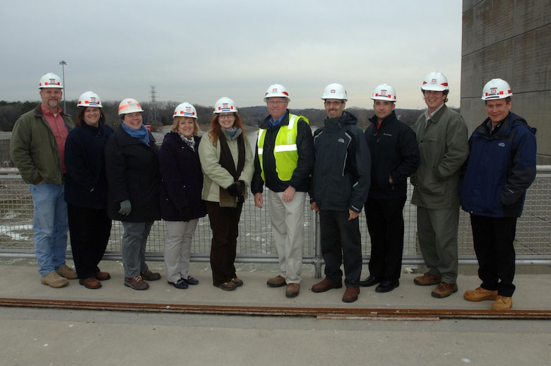 These are the 2015 participants in the U.S. Army Corps of Engineers Great Lakes and Ohio River Division's Regional Leadership Development Program. They posed during a tour at Old Hickory Dam in Old Hickory, Tenn., Feb. 25, 2015.