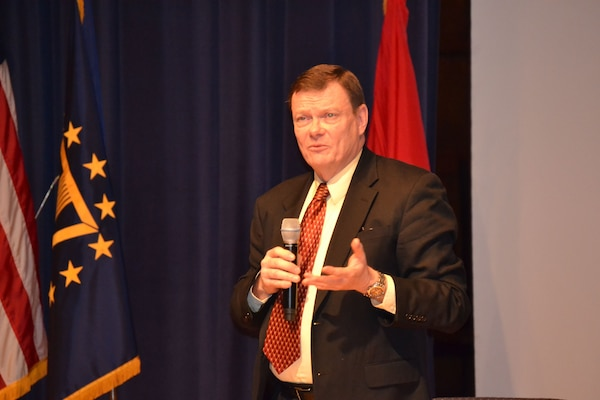 Acting Defense Department CIO Terry Halvorsen hosts the DoD CIO Cloud Industry Day at the Department of Commerce Auditorium, Jan. 29, 2015. The event was the first in a series of Cloud Industry Days and included plenary and panel sessions examining the process. DoD CIO office photo