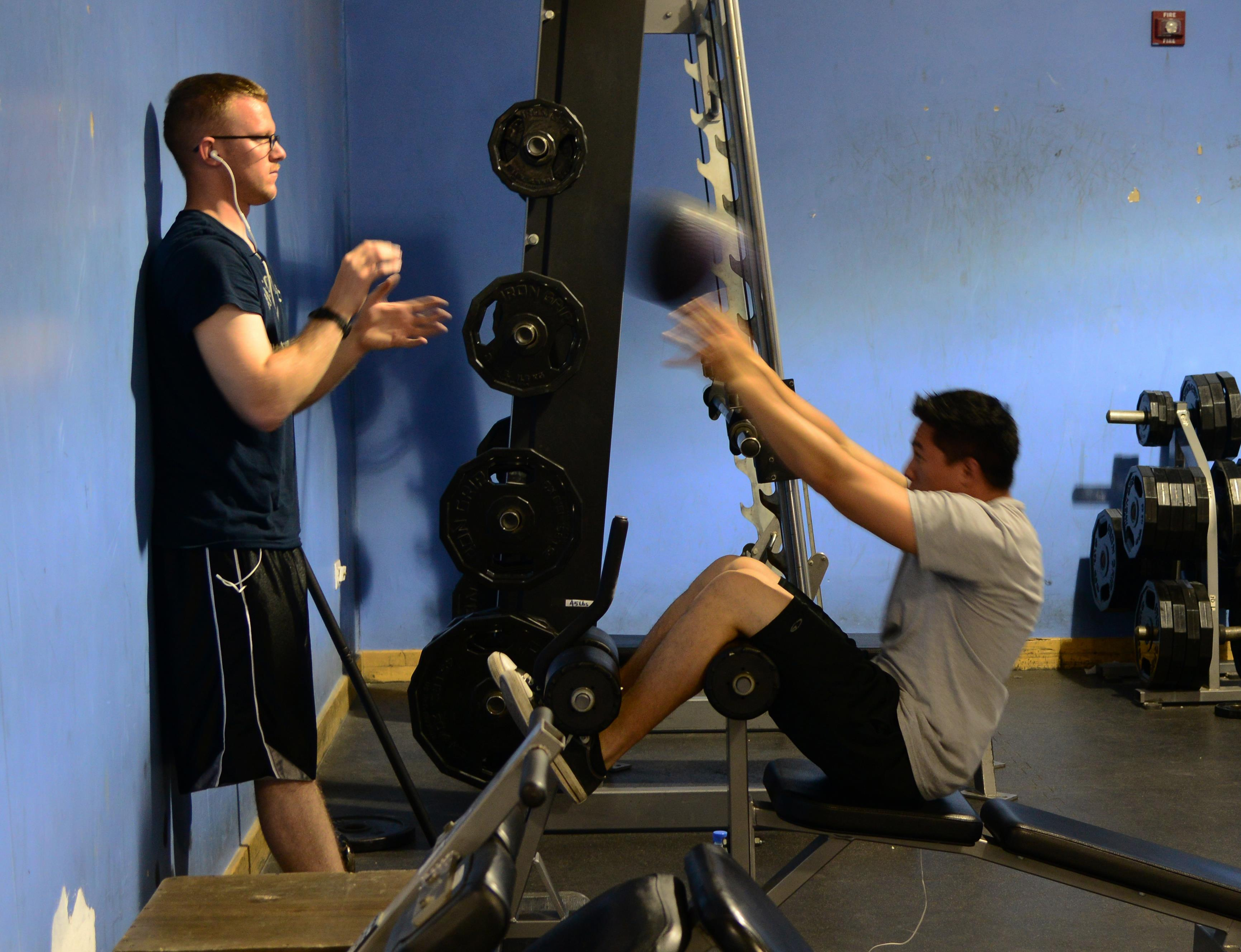 Servicemembers work out at the blatchford preston complex