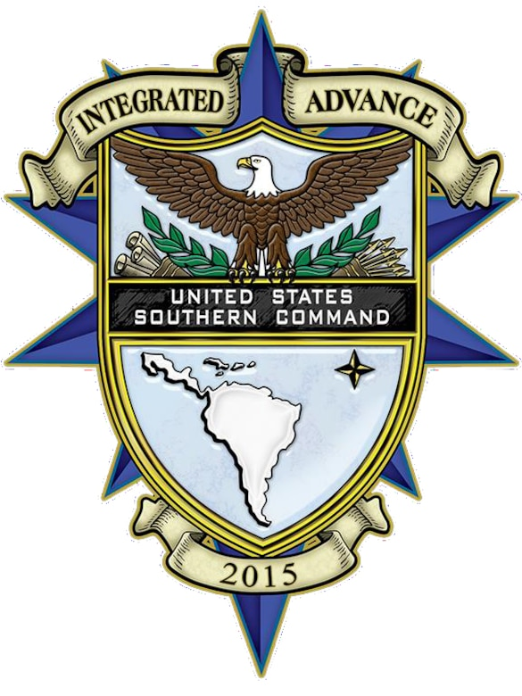 Integrated Advance is a biennial U.S. Southern Command (SOUTHCOM)-sponsored interagency exercise that focuses on supporting the Department of Homeland Security (DHS) and Department of State (DOS) in the event of a humanitarian crisis in the Caribbean. (DOD graphic/released)