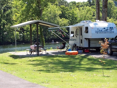 Camping at Quarry Park on the North Fork River.