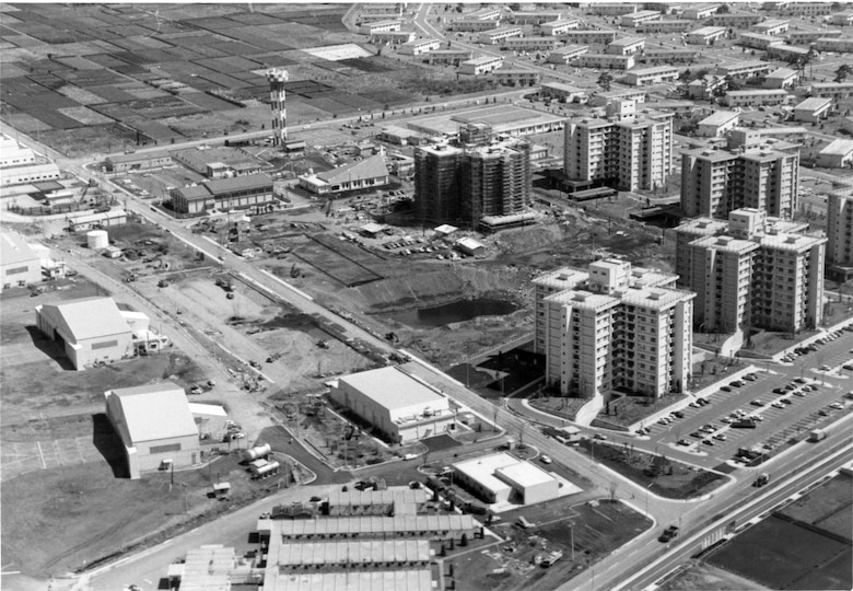 A 19 April 1977 aerial photo of Yokota's east side depicting the scope of