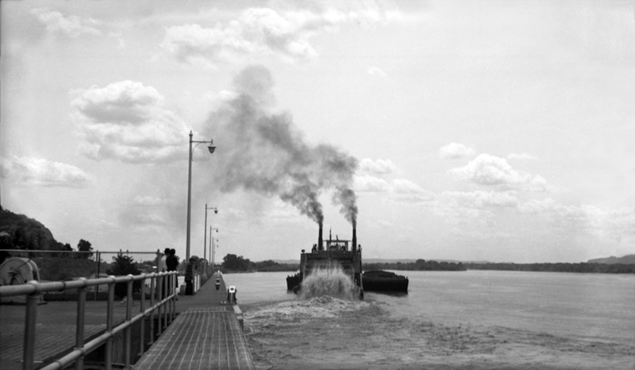 Lock and Dam 8, Genoa, Wisconsin, circa 1944.