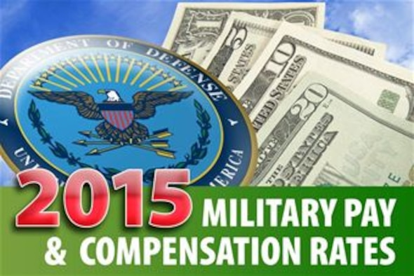Current Military Pay Chart: DOD releases 2015 military pay compensation rates: BAH rate ,Chart