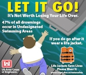 Let it Go! It's not worth losing your life over. Forty-seven percent of all drownings occur in undesignated swimming areas. Life jackets save lives...Please wear it!