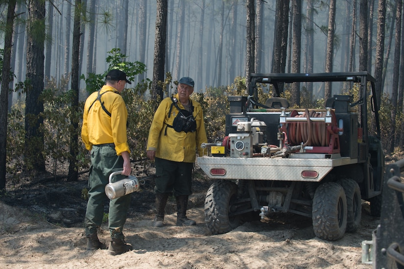 Prescribed fire season begins on Joint Base Weapons in November and runs thru May.   All prescribed fires in S.C. are monitored by the S.C. Forestry Commission.  Before these fires are started a notification number must be issued by the Commission from their fire control headquarters. (Courtesy photo)