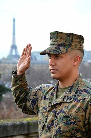 Taken on the rooftop of the US Embassy in Paris during the meritorious promotion ceremony.