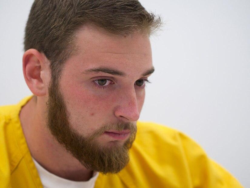Former Airman 1st Class Lane Wyatt recounts the night of June 30, 2013, when he killed Citari Townes-Sweatt in an drunk-driving accident. Wyatt was sentenced Dec. 19 to 18 years in prison. (U.S. Air Force photos/David Bedard)