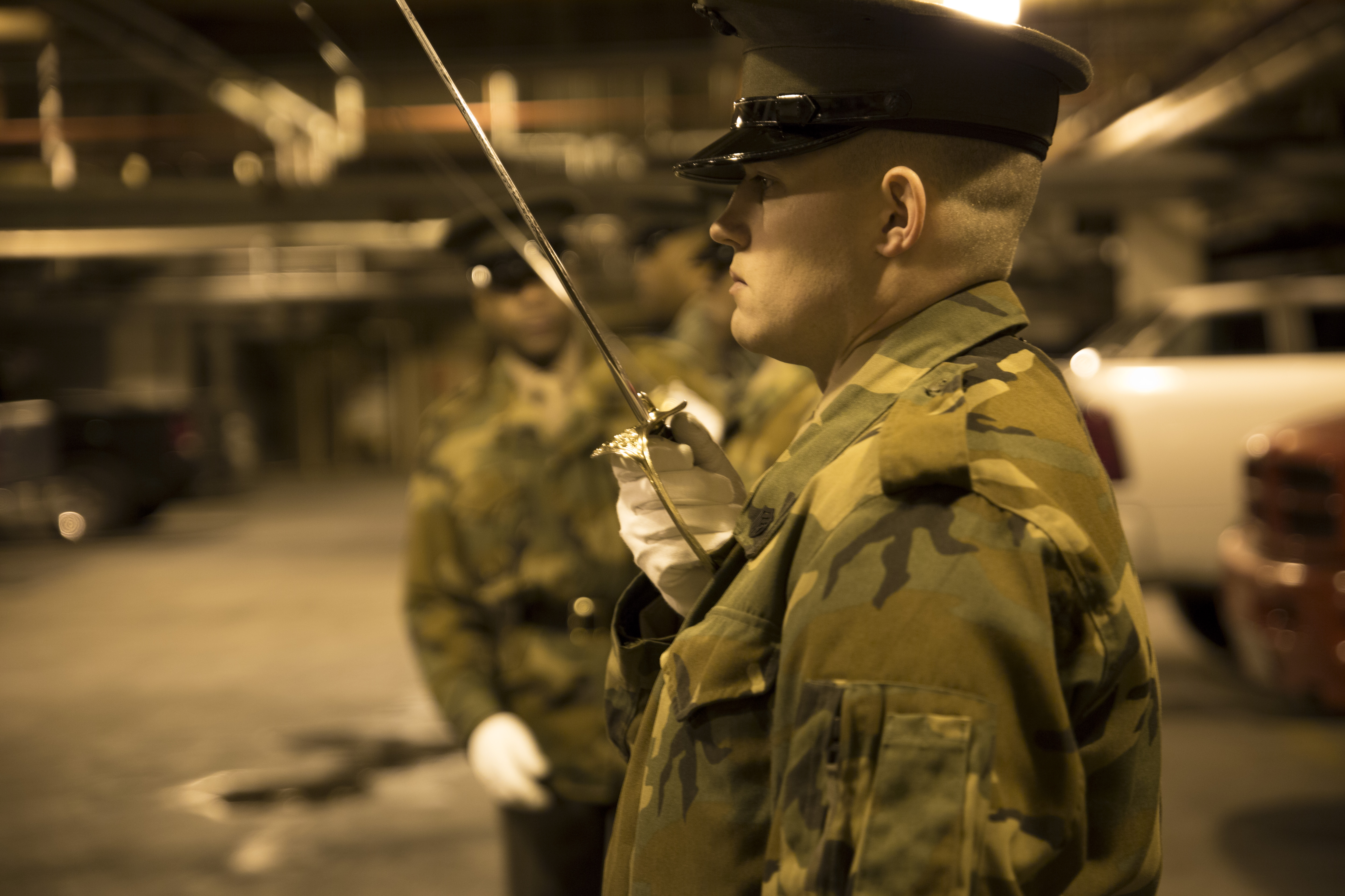 Download Hi-Res Photo Download Share Photo Details Details. United States  Marines practice sword manual during Ceremonial Drill ...