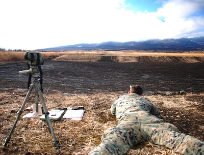 Gotemba, Japan, 7 Jan 15 - Marines from 1/1 send rounds downrange during live fire training in the North Fuji Maneuver Area.