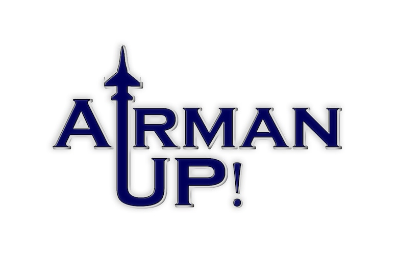 """Airman Up!"" is a new campaign, lead by Col. Stephen Jost, 20th Fighter Wing commander, focused on empowering Airmen to improve themselves. Through resiliency and personal development, ""Airman Up!"" challenges Airmen to be better today than they were yesterday. (U.S. Air Force illustration by Senior Airman Jensen Stidham/Released)"