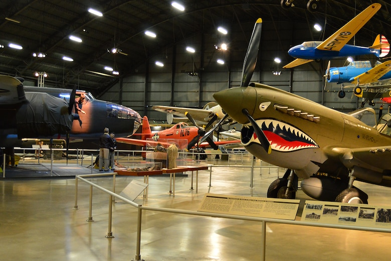 DAYTON, Ohio -- Curtiss P-40E Warhawk in the World War II Gallery at the National Museum of the United States Air Force. (U.S. Air Force photo)