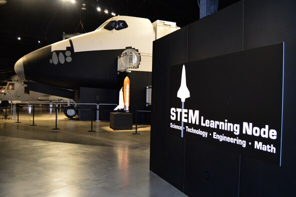 DAYTON, Ohio -- A general view of the  STEM Learning Node, which is adjacent to the space shuttle exhibit in the Cold War Gallery at the National Museum of the U.S. Air Force. (U.S. Air Force photo)