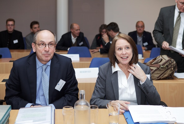 Mr. Jan Hendrik Dronkers, Rijkswaterstaat Director General and Ms. Jo-Ellen Darcy, Assistant Secretary of the Army for Civil Works, participate in seminar discussions marking publication of the history book about the US Army Corps of Engineers Civil Works program and the Rijkswaterstaat.