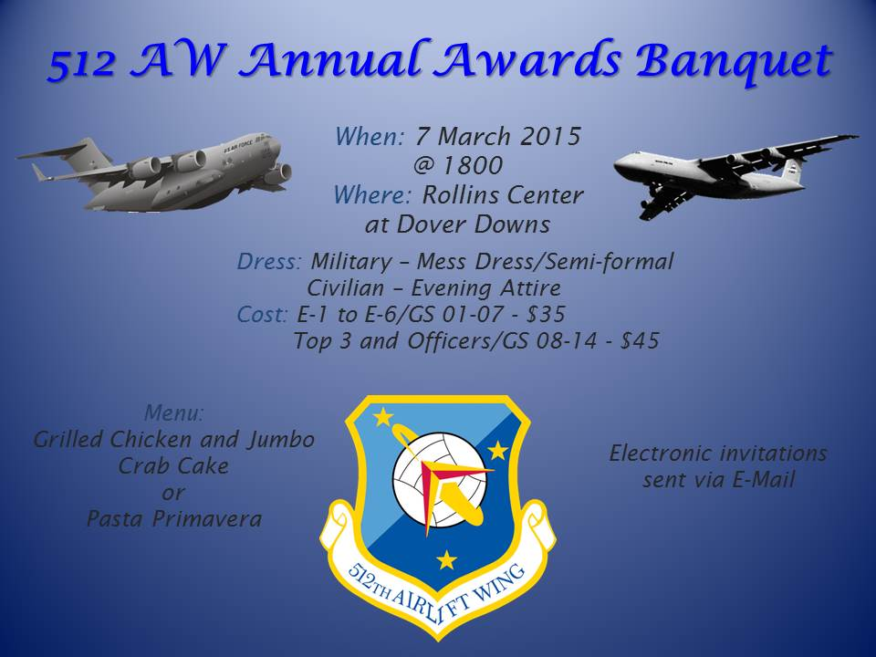512th Airlift Wing S Award Banquet Tickets Are Now Available On E