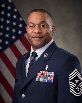 Chief Master Sgt. David A. Brown, 366th Fighter Wing Command Chief (U.S. Air Force photo by Airman 1st Class Malissa Lott/RELEASED)