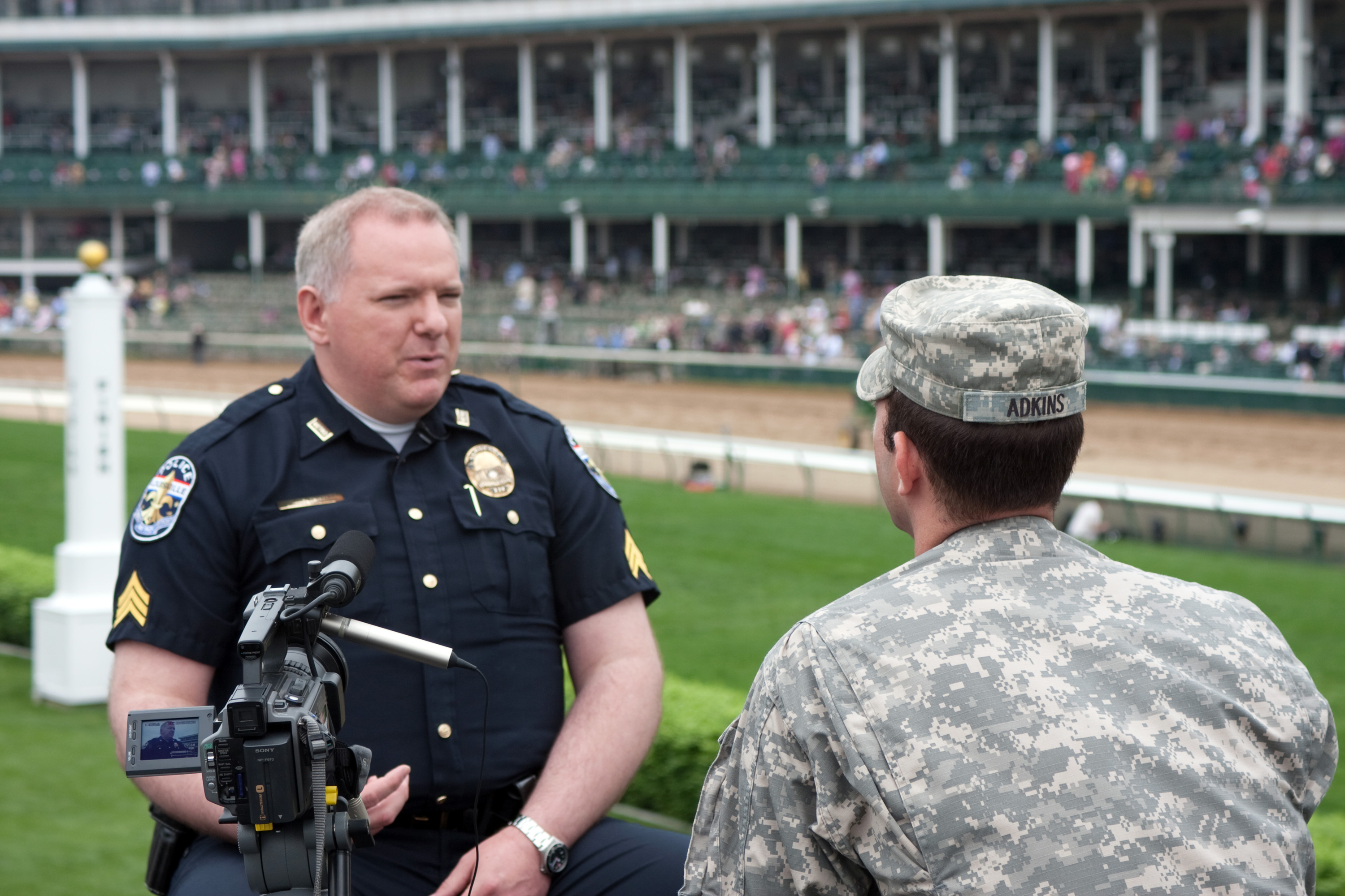 Kentucky Guardsmen prepare for this weekend's Derby